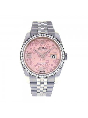 Rolex Datejust Steel Case Diamond Bezel Jubilee Bracelet Automatic Watch 116244