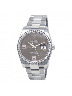 Rolex Datejust Stainless Steel Diamond Bezel Automatic Men's Watch 116244