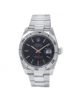 Rolex Datejust Stainless Steel Oyster Automatic Black Men's Watch 116264