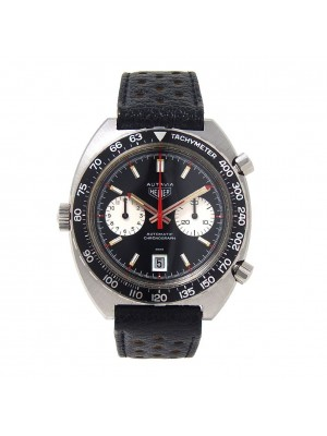 Tag Heuer Vintage Autavia Stainless Steel Automatic Chronograph Men's Watch 1163