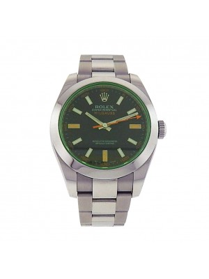 Rolex Milgauss 116400 Stainless Steel Automatic Oyster Green Men's Watch