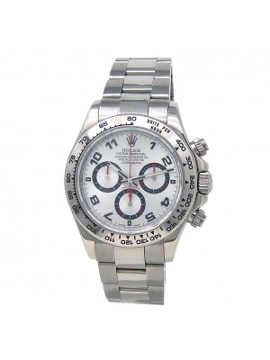 Rolex Daytona 18k White Gold Automatic Chrnograph Men's Watch 116509