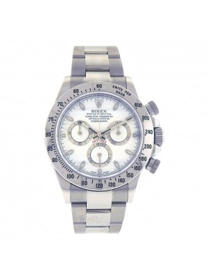Rolex Daytona White Dial Chronograph Stainless Steel Automatic Mens Watch 116520