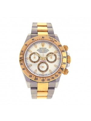 Rolex Daytona 116523 Yellow Gold Stainless Steel Chronograph Automatic Men Watch