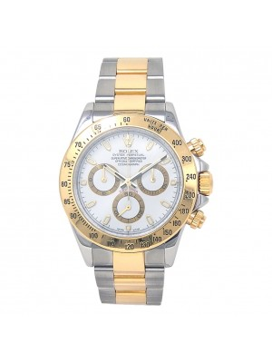 Rolex Daytona D Serial 18k Yellow Gold & Stainless Steel Automatic Watch 116523