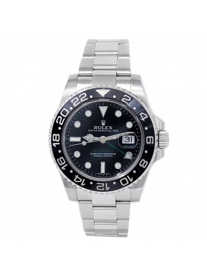 Rolex GMT-Master II Stainless Steel Oyster Automatic Black Men's Watch 116710