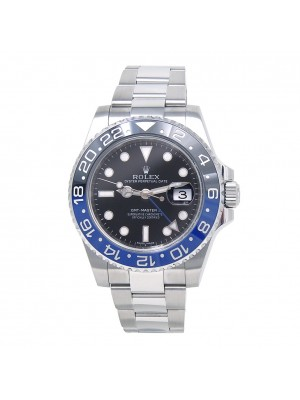 "Rolex Date ""Batman"" GMT-Master II Stainless Steel Automatic Men's Watch 116710"