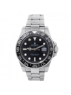 Rolex GMT-Master II Stainless Steel Oyster Automatic Black Men's Watch 116710LN