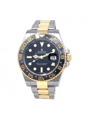 Rolex GMT-Master 2 18k Yellow Gold & Stainless Steel Automatic Mens Watch 116713