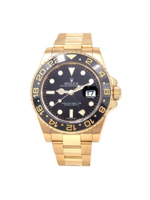 Rolex GMT-Master II 18k Yellow Gold Automatic Men's Watch 116718