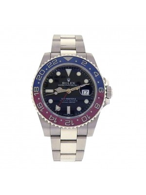 Rolex Pepsi GMT Master II Perpetual Date S.Steel Automatic Men's Watch 116719