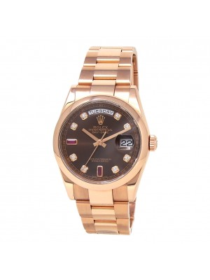 Rolex Day Date 18K Rose Gold Automatic Men's Watch 118205
