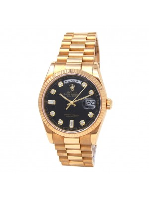 Rolex Day-Date 18k Yellow Gold Automatic Men's Watch 118238