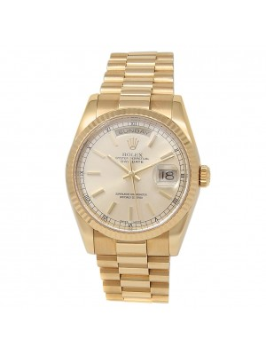 Rolex Day-Date 18k Yellow Gold President Automatic Champagne Men's Watch 118238
