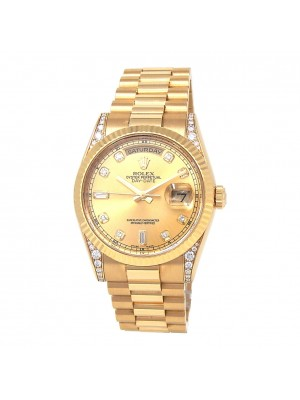 Rolex Day-Date President 18k Yellow Gold Automatic Men's Watch 118338