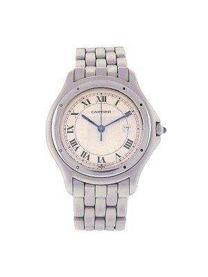 Cartier Panthere Cougar Stainless Steel Date Display Quartz Ladies Watch 120000R