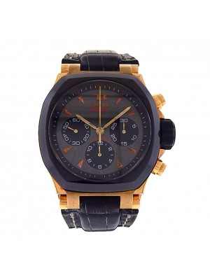 Men's 18k Solid Rose Gold Buti Chronograph Yanick Sport 12289 Automatic Sport