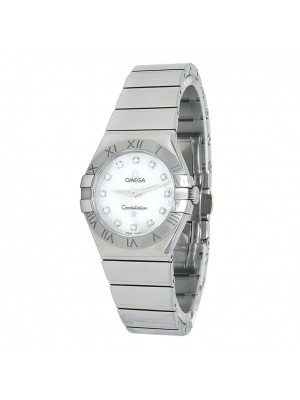 Omega Constellation Stainless Steel Quartz Ladies Watch 123.10.27.60.55.002
