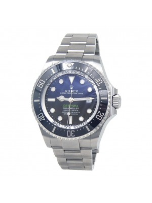 Rolex Sea-Dweller Stainless Steel Fluted Bezel Automatic Men's Watch 126660