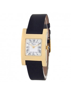 Chopard Your Hour 18k Yellow Gold Leather Quartz White Ladies Watch 127405-0001