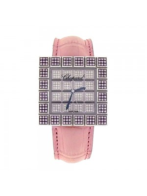 Chopard Ice Cube 18K White Gold Diamond Pave Quartz Ladies Watch 13/6858/8-42
