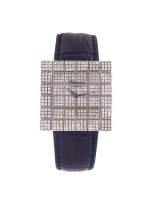 Chopard Ice Cube 18k White Gold Diamonds Pave Quartz Ladies Watch 136815-1002