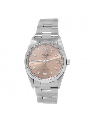 Rolex Air-King Stainless Steel Oyster Automatic Salmon Men's Watch 14000M