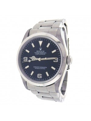 Rolex Explorer (W Serial) Black Dial Stainless Steel Automatic Men's Watch 14270