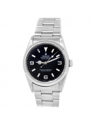 Rolex Explorer Stainless Steel Oyster Automatic Black Men's Watch 14270