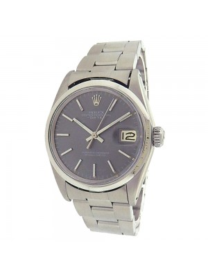 Rolex Date 1500 Stainless Steel Automatic Grey Men's Watch