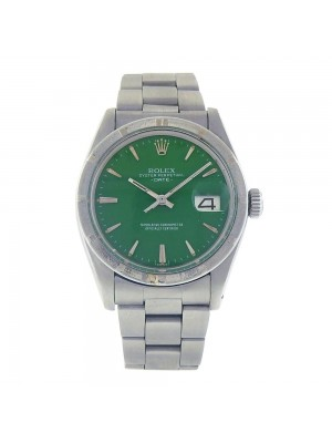 Rolex Date Oyster Perpetual Green Dial Stainless Steel Automatic Mens Watch 1501