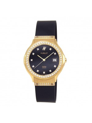 Hublot Classic MDM 18k Yellow Gold Diamond Bezel Quartz Ladies Watch 1520.3.054