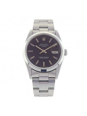Rolex Date 15200 Stainless Steel Oyster Automatic Black Men's Watch