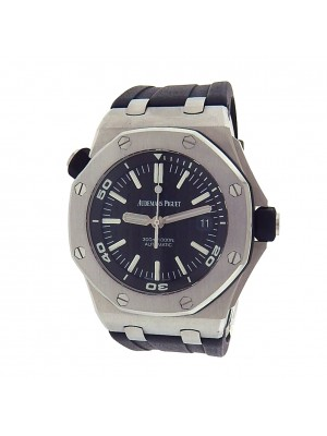 Audemars Piguet Royal Oak Offshore Diver 15710ST.OO.A002CA.01 Stainless Steel Rubber Automatic Black Men's Watch