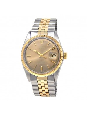 Rolex Datejust Stainless Steel & 18k Yellow Gold Automatic Men's Watch 1601