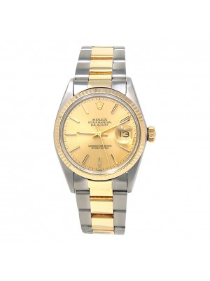 Rolex Datejust Stainless Steel & 14k Yellow Gold Automatic Men's Watch 16013