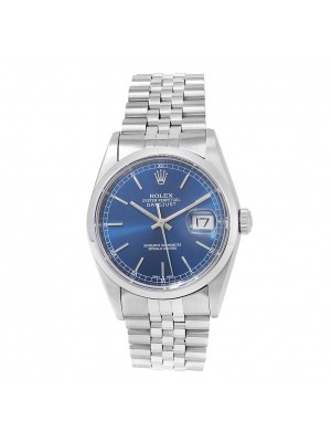 Rolex Datejust Stainless Steel Jubilee Automatic Blue Men's Watch 16200