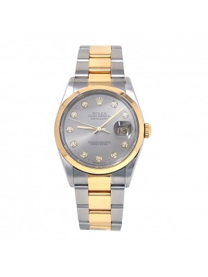 Rolex Datejust Stainless Steel & 18K Yellow Gold Automatic Midsize Watch 16203