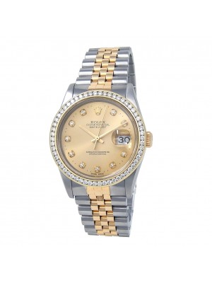 Rolex Datejust 18k Yellow Gold & Stainless Steel Automatic Mens Watch 16233