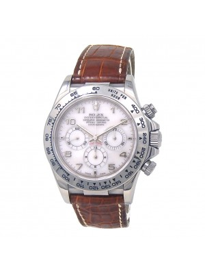 Rolex Daytona A Series 18k White Gold MOP Dial Automatic Men's Watch 16519