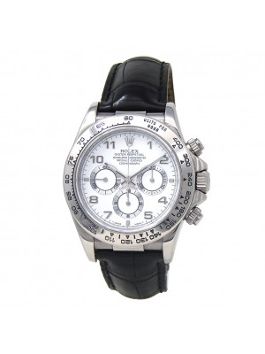 Rolex Daytona (A serial) 18k White Gold Automatic Men's Watch 16519