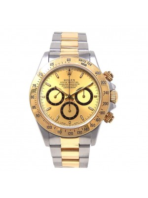 Rolex Daytona Zenith 18k Yellow Gold & Stainless Steel Automatic Watch 16523
