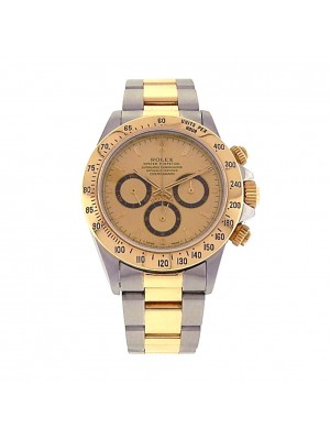 Rolex Daytona 16523 Yellow Gold Steel Chronograph Oyster Zenith Champagne Watch