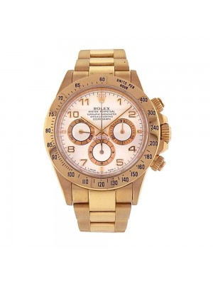 Rolex Daytona Zenith 18K Yellow Gold Automatic Chronograph Men's Watch 16528