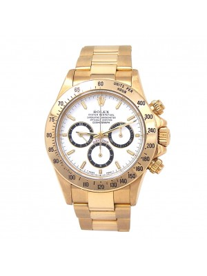 Rolex Daytona Zenith (E Serial) 18k Yellow Gold Men's Watch Automatic 16528