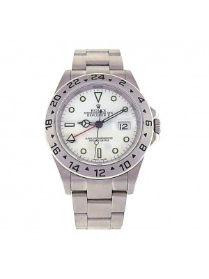 Rolex Explorer II 16570 Stainless Steel Automatic Oyster White Men's Watch