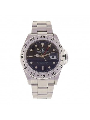 Rolex Explorer II 16570 Stainless Steel Automatic Oyster Black Men's Watch