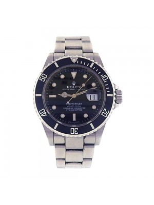 Rolex Submariner Oyster Perpetual Date Stainless Steel Automatic Watch 16610