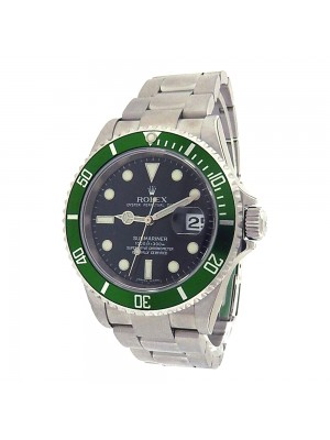 Rolex Submariner 16610 Steel Oyster Automatic Green Black Men's Watch D Serial