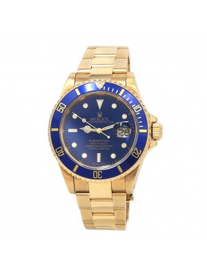 Rolex Submariner (A Serial) 18k Yellow Gold Automatic Men's Watch 16618